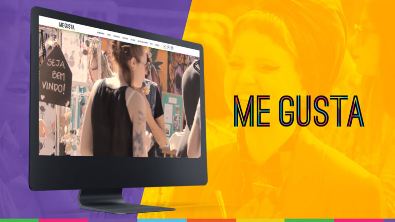 Banner showing the homepage of Feira Me Gusta's website